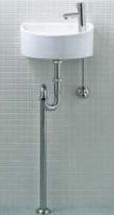 手洗い器 一式セット【あす楽 BW1のみ】トイレ 手洗い器【AWL-33(S)-S】【床給水・床排水】INAX トイレ用【狭いスペースにもOK】狭小手洗タイプ(丸形) イナックス LIXIL・リクシル【手洗器と水栓金具・止水栓・排水金具・固定金具のセットです】