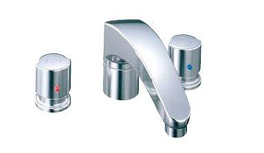 LIXIL・リクシル 水栓金具 バス水栓 デッキタイプ 【BF-A093B-U】寒冷地 アウゼ 2ハンドルバス水栓 乾式工法 INAX