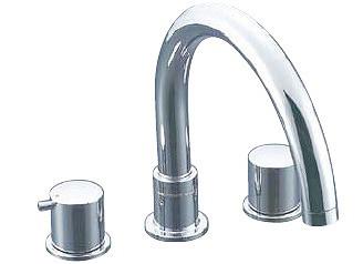 LIXIL・リクシル 水栓金具 バス水栓 デッキタイプ 【BF-E090B】 eモダン 2ハンドルバス水栓 湿式工法 INAX