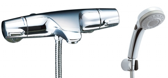【BF-J147TSBW】 LIXIL・リクシル シャワーバス水栓 ジュエラ + エコフルスイッチ多機能シャワー サーモスタット付シャワーバス水栓 【BFJ147TSBW】 INAX