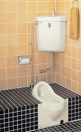 LIXIL・リクシル トイレ 和風便器 便器のみ 【C-284BHC】 給水装置【DT-870XZN32】 洗浄管【CF-171D-32B】 スパッド【CF-103BB】 水抜給水管【DTF-870EW】 INAX