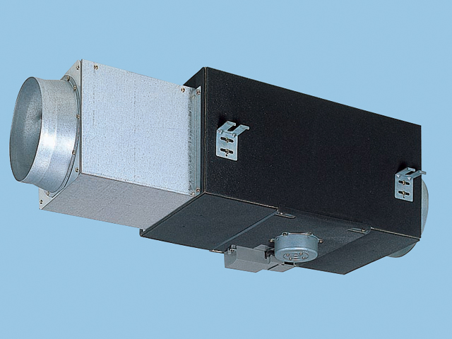 【FY-25DZS4】 中間ダクトファン/消音形(給気-排気兼用 消音形・給排兼用〈強-弱〉 風圧式シャッター 鋼板製(羽根:樹脂製)換気扇 パナソニック