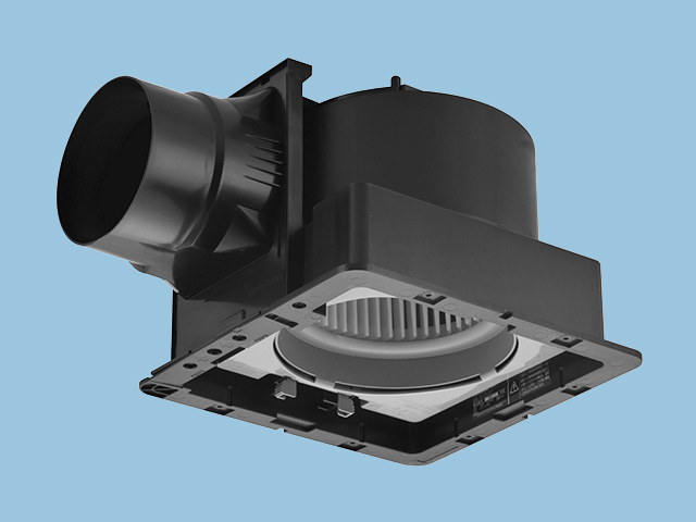 【FY-27JD7】天井埋込形 (樹脂)常時排気・ルーバー別売 排気・低騒音形 DCモーター搭載 樹脂製本体 ルーバー別売タイプ 埋込寸法:270mm角 適用パイプ径:150mm換気扇 パナソニック