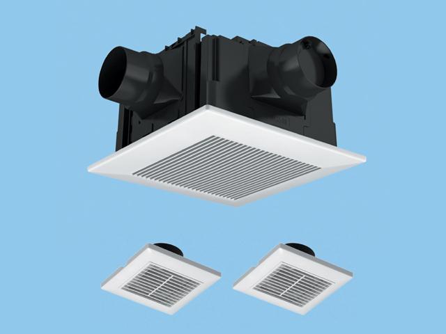 【FY-32CPTS7】天井埋込形 (樹脂)三室用・ルーバーセット 排気・低騒音・大風量形 3室用(子機付) 樹脂製本体 ルーバーセットタイプ 埋込寸法:320mm角 適用パイプ径:100mm換気扇 パナソニック