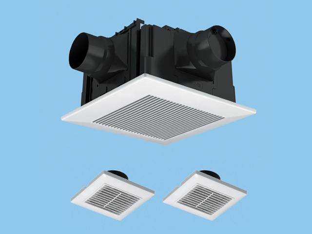 【FY-32CTS7V】天井埋込形 (樹脂)常時換気ルーバーセット 排気・低騒音形 常時換気付 3室用(子機付) 樹脂製本体 ルーバーセットタイプ 埋込寸法:320mm角 適用パイプ径:100mm換気扇 パナソニック
