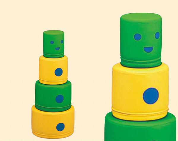 【KP-021】 マルロボ 積み上げて遊ぶソフトブロック 幼児用遊び場 室内遊具 コンビウィズ株式会社【KP021】【メーカー直送のみ・代引き不可・NP後払い不可】