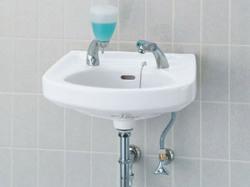 L-132G LIXIL・リクシル 洗面器・床排水・壁給水セット・そで付け小形洗面器・壁付式 INAX