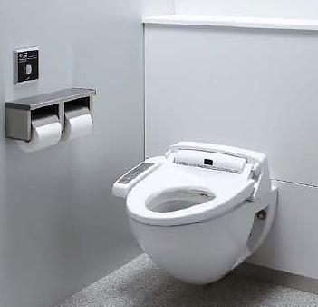 LIXIL・リクシル トイレ 壁掛大便器パック ハイパーキラミック仕様 便器仕様:掃除口付(右) 使用水質:中水 排水継手:単独排水ソケット(VP/VU75) INAX 【セルフリノベーション】