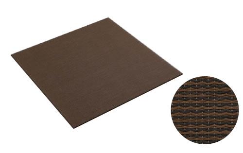 大建工業[DAIKEN] 床材 【YQ5106-2】<06ダーク(栗色×胡桃色)> 820×820mm 彩園(さいえん) 置き畳 ここち和座 置き敷きタイプ 2枚入り [自分で置くだけ、かんたん設置] [新品]