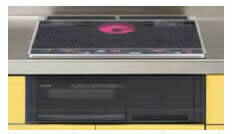 リクシル・サンウェーブ コンパクトキッチン サンファーニ<ティオ・プラス> 加熱機器(コンパートメントキッチン用) IHヒーター・電気コンロ 本体のみ 2口IH+ラジェント・スタンダードタイプ(両面焼グリル) 【CH-AS6DJCE】 INAX