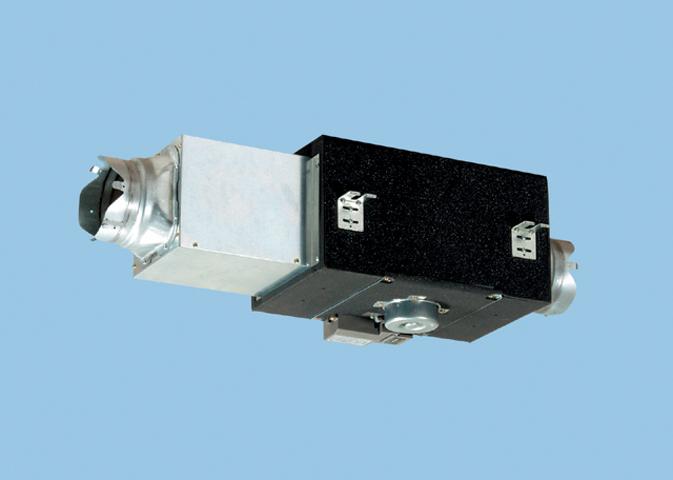 【FY-23DZS4】 中間ダクトファン/消音形(給気-排気兼用 消音形・給排兼用〈強-弱〉 風圧式シャッター 鋼板製(羽根:樹脂製)換気扇 パナソニック