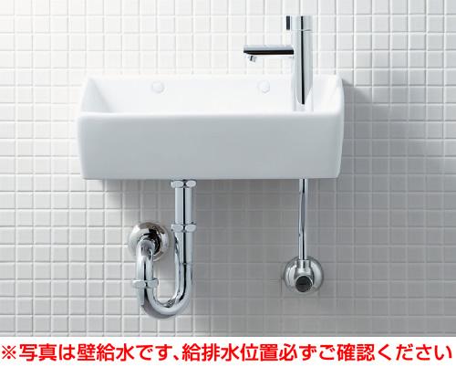【YL-A35HD】 手洗器(角形)セット 床給水・壁排水(Pトラップ) アクアセラミック仕様 INAX・LIXIL [新品]【せしゅるは全品送料無料】【セルフリノベーション】