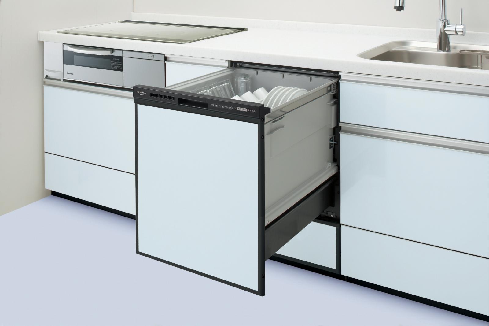 【延長保証5年間対象商品】パナソニック・ビルトイン食器洗乾燥機(食洗機)【NP-45RD7K】幅45cm ディープタイプ・ドアパネル型/ブラック