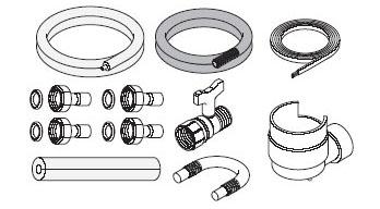 パナソニック エコキュート貯湯ユニット 配管部材ヒートポンプユニット循環配管セット【AD-HEHS23CE】