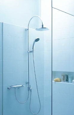 LIXIL・リクシル 水栓金具 XSITE 浴室用水栓 シャワーセット 【BF-HA-40100/PC】 ハンザ社(ドイツ) Designo デジーノ・シリーズ INAX