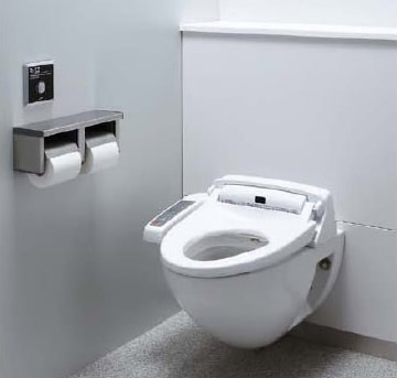 LIXIL・リクシル トイレ 壁掛大便器パック プロガード+ハイパーキラミック仕様 便器仕様:掃除口なし 使用水質:中水 排水継手:横引き右・左抜き用(VP100) INAX