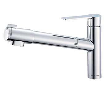 三栄水栓 シングル浄水器付ワンホールスプレー混合栓【K87580EJV-13】【K87580EJV13】[新品] [SANEI] 水栓