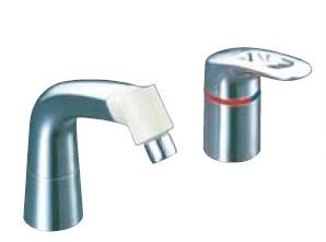 LIXIL・リクシル 水栓金具 湯側開度規制付水栓金具 【LF-344SHK(500)】 マルチシングルレバー混合水栓 INAX