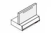 リクシル・サンウェーブ レンジフード 別売部品 RVJシリーズ用金属幕板 間口75cm シルバー 高さ70cm用【RFP-7-500FSI】 INAX
