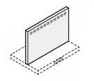 リクシル・サンウェーブ レンジフード 別売部品 ADRシリーズ用金属幕板 間口75cm ホワイト 高さ70cm用【RFP-7-630AW】 INAX