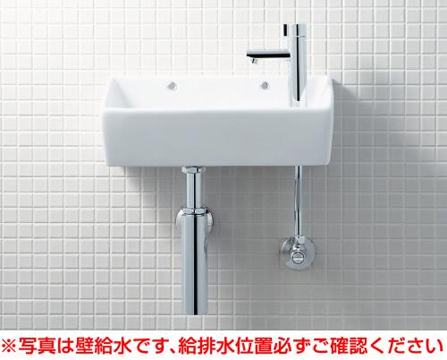 【YL-A35HH】 手洗器(角形)セット 床給水・壁排水(ボトルトラップ) アクアセラミック仕様 INAX・LIXIL [新品]【せしゅるは全品送料無料】【セルフリノベーション】