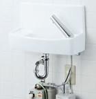 【YL-A74UW2D】 手洗器セット 床給水壁排水 温水自動水栓(100V) 同上水石けん入れ付タイプ アクアセラミック(受注後3日) INAX・LIXIL [新品]【せしゅるは全品送料無料】【セルフリノベーション】