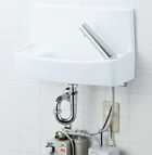 【YL-A74UWA】 手洗器セット 壁給水床排水 温水自動水栓(100V) アクアセラミック(受注後3日) INAX・LIXIL [新品] 【セルフリノベーション】