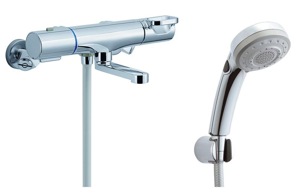 【BF-WM147TNSBW】 INAX・LIXIL 浴室用水栓金具 サーモスタット付シャワーバス水栓 洗い場専用 エコフルスイッチ多機能シャワー クロマーレS [寒冷地対応] 【BFWM147TNSBW】 【沖縄・北海道・離島は送料別途必要です】