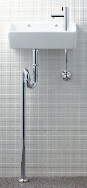 【L-A35HB】 LIXIL・リクシル トイレ用 狭小手洗い器 床給水 床排水 ハイパーキラミック INAX