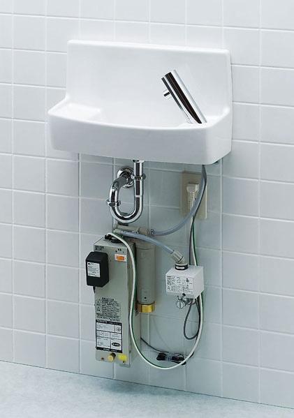 【L-A74WA】 LIXIL・リクシル トイレ用手洗い器 温水自動水栓(100V) 壁給水・床排水 ハイパーキラミック INAX