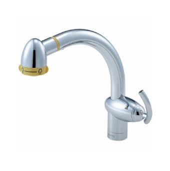 三栄水栓 シングルワンホールスプレー混合栓【K8742TJV-13】【K8742TJV13】[新品] [SANEI] 水栓