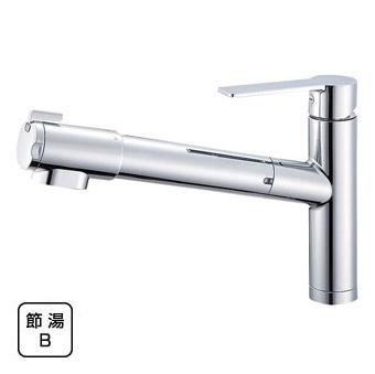三栄水栓 シングル浄水器付ワンホールスプレー混合栓【K87580JV-13】【K87580JV13】[新品] [SANEI] 水栓