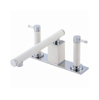 三栄水栓 ツーバルブデッキ混合栓(ユニット用)【K91300K-L-JD-13】【K91300KLJD13】[新品] [SANEI] 水栓