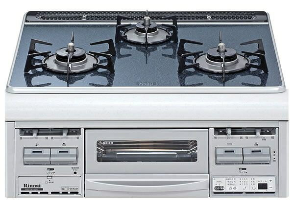 60cm幅 リンナイ RS31W3A2RV 幅60cm幅シルバーブルーガラストップ/水無し両面焼【ビルトインコンロ ビルトイン ガズコンロ】【セルフリノベーション】