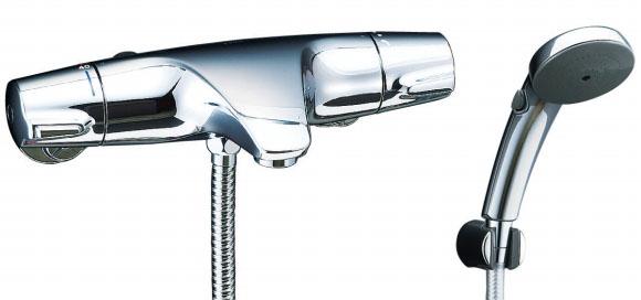 【BF-J147TLW】 LIXIL・リクシル シャワーバス水栓 ジュエラ + スイッチシャワー(メッキ仕様) サーモスタット付シャワーバス水栓 【BFJ147TLW】 INAX