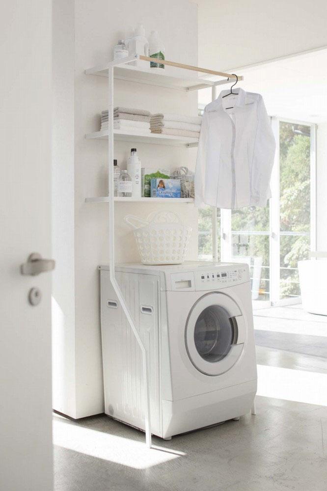 【2482】 立て掛けランドリーシェルフ タワー ホワイト Laundry Shelf Tower 【沖縄・北海道・離島は送料別途必要です】【山崎実業】