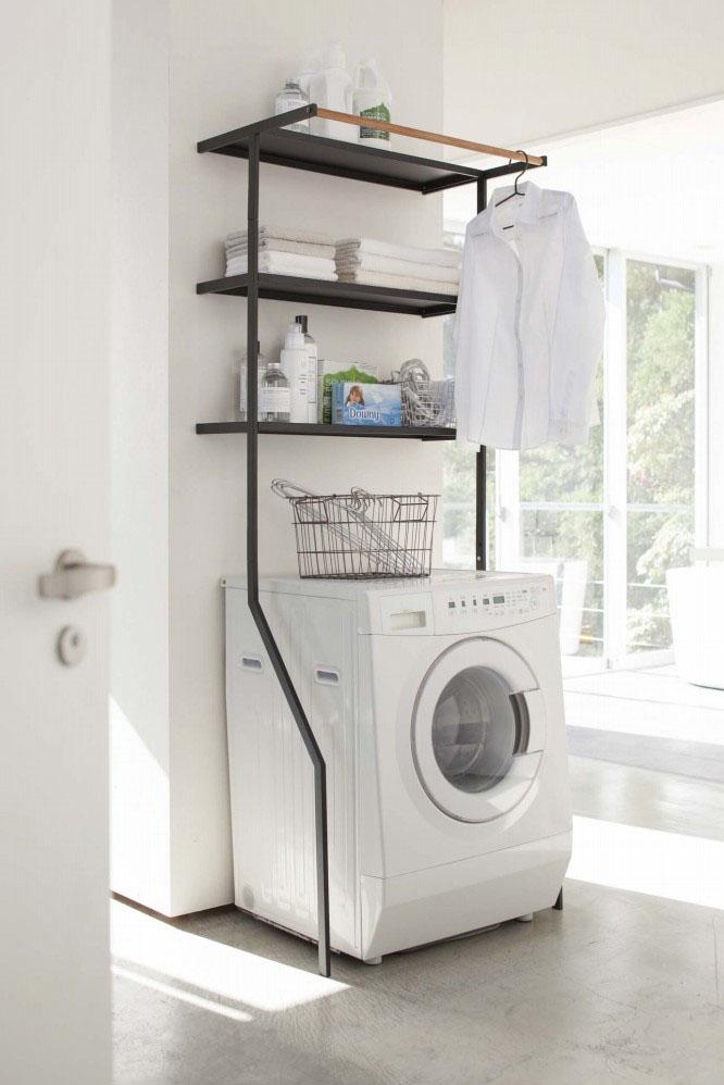 【送料無料】【2483】 立て掛けランドリーシェルフ タワー ブラック Laundry Shelf Tower 【沖縄・北海道・離島は送料別途必要です】【山崎実業】【送料無料】