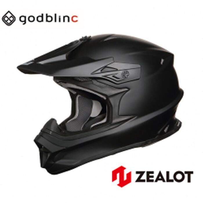 ZEALOT ジーロット オフロードヘルメット フルフェイス MadJumper2 マッドジャンパー2 MATT BLACK S M L XL XXL godblinc ゴッドブリンク