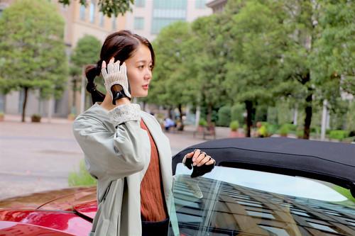 <title>男女兼用 ドライビンググローブ CACAZAN×YUコラボレーション 総手編みニット×鹿革</title>
