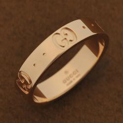 GUCCI 指輪 リング 152045 J8500 5702●K18ピンクゴールド GGアイコン【新品・未使用・正規品】