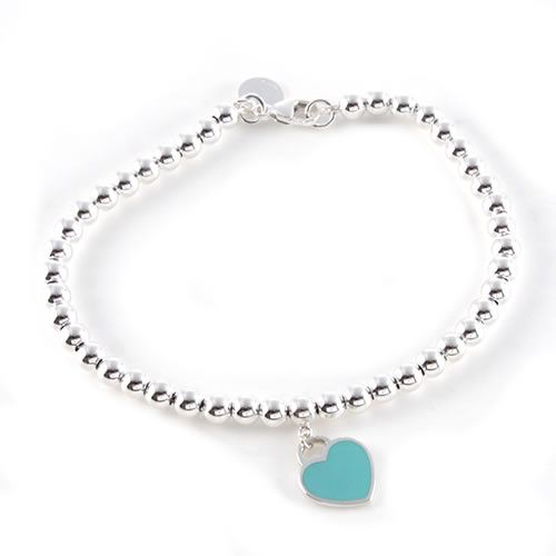 Tiffany Co Rtt Mini Heart Tags Bead Bracelet Medium 26659604