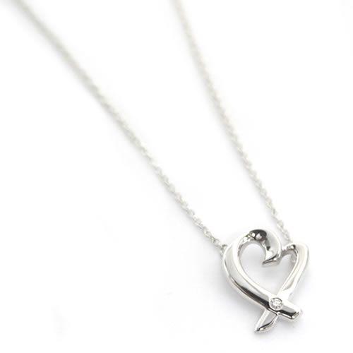 be3bdc34e Tiffany &Co. Tiffany Paloma Picasso loving heart pendant &  necklace ...