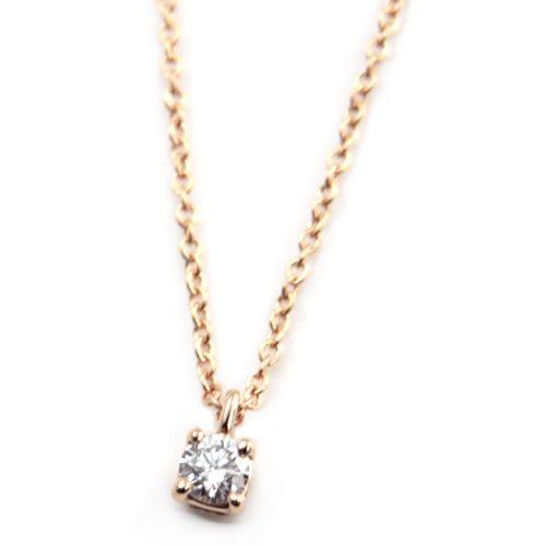 Tiffany&Co. ティファニー ソリティア ダイヤモンドペンダント .12ct 16in 18R 30420837【r】【新品・未使用・正規品】