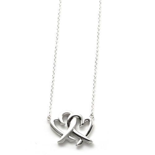 73a6e4892 Tiffany &Co. Tiffany Paloma Picasso loving heart interlocking King pendant  necklace sterling silver ...