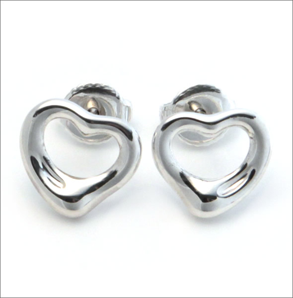 And Tiffany Elsa Peretti Open Heart Earrings Mini Sterling Silver 12270062