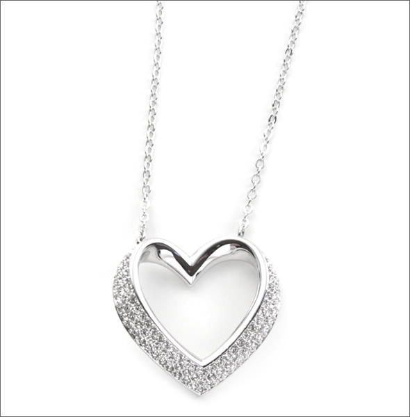 f7526c74c1796 Swarovski Cupidon heart motif Crystal pave pendant necklace 5119331