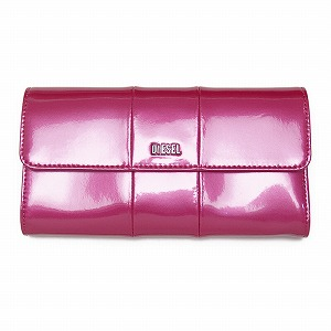 ディーゼル DIESEL X02414 PR035 H3090 折長財布 Metallic Pink【c】【新品・未使用・正規品】