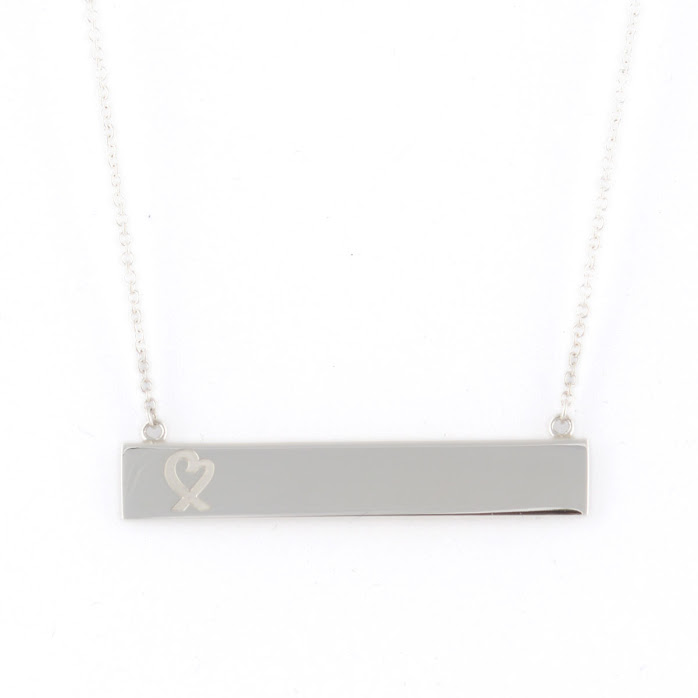 ec81c2c7a4fe9 Tiffany Tiffany CO 34946035 Paloma Picasso loving heart bar pendant 18 in  sterling silver necklace