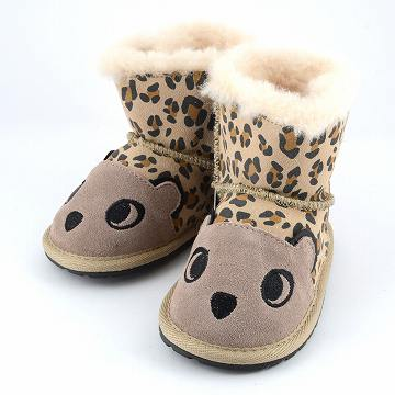 动车组澳大利亚鸸鹋 B11105-SND [婴儿羊皮靴子的 2015 AW 模型» LC 沃克猎豹猎豹主题