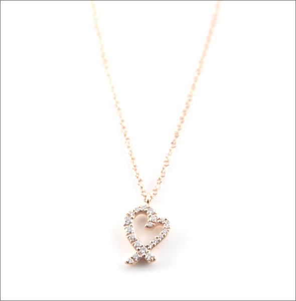 ティファニー ラビング ハート ペンダント スモール ダイヤモンド 16in 18R 26187869【r】【新品・未使用・正規品】